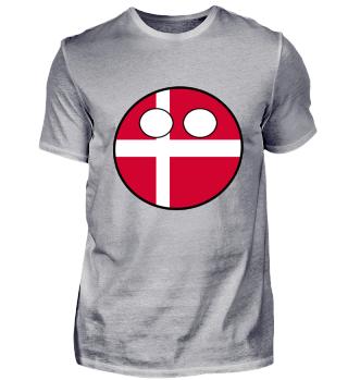 Countryball Länderball Land Heimat Dänemark
