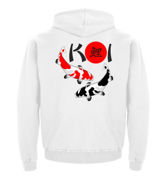 KOI - Nishikigoi Bekko white red black 1