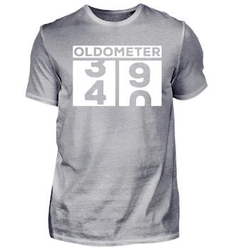 Oldometer 40. Geburtstag Birthday Shirt