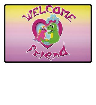 welcome friend - unicorn and dragon
