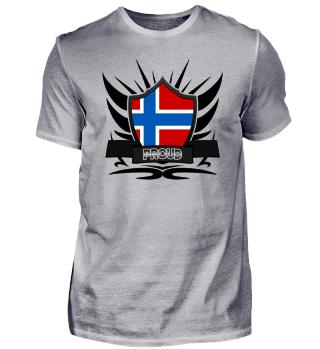 Norwegen-Norway Proud Wappen Flag 011