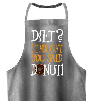 Lustige Donut Diät Sprüche Schürze