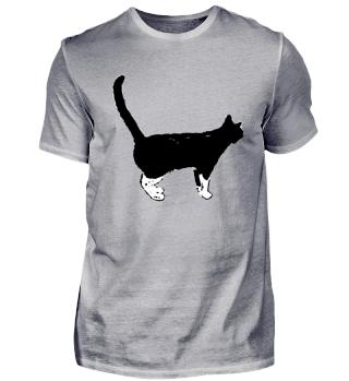 Katze | Zeichnung | schwarz
