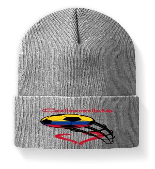 Colombia football flag heart gift idea