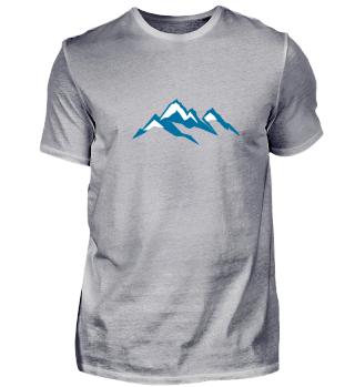Blue Mountain Peaks Nature Snow Giftidea