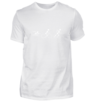 Triathlon T Shirt Skelett Geschenk Sport