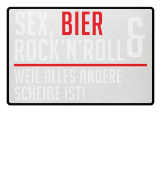 Fußmatte Sex Rock Bier