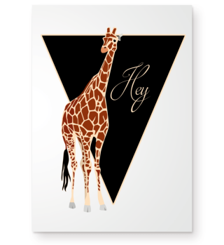 ★ Triangle Hey GIRAFFE brown Poster