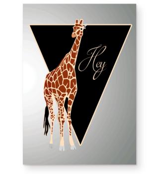 ★ Triangle Hey GIRAFFE brown Poster