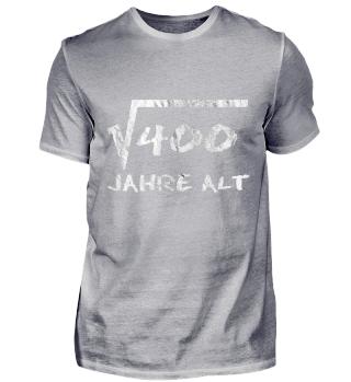 Wurzel aus 400 - 20 Jahre alt T-Shirt