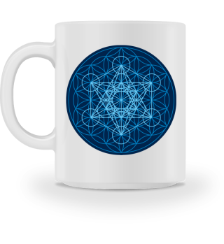 Blume des Lebens Metatron Würfel blau 2