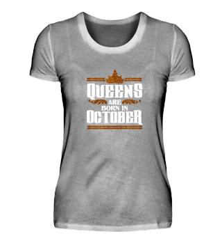 OCTOBER QUEEN BORN BIRTHDAY PARTY CROWN