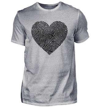 BLACK HEART FINGERPRINT LOVE PRIDE