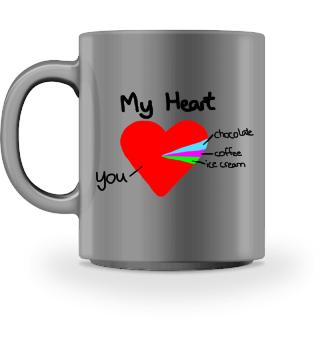 Herz Tortendiagramm