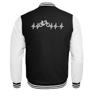 Herzrhythmus Kurve Fahrrad I - weiss