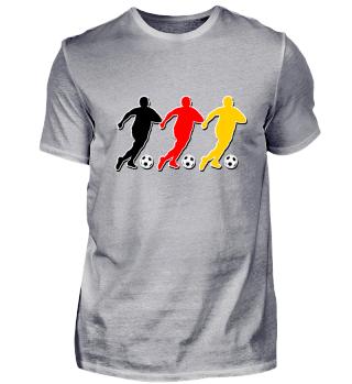 Fussball Spieler Mob schwarz rot gold 2