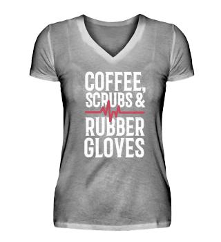 Nurse T Shirt for Women Coffee Scrubs