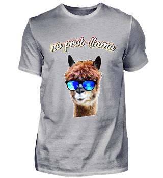 Llama Alpaca - NO PROBLLAMA ! no prob-llama Funny Shirt Gift