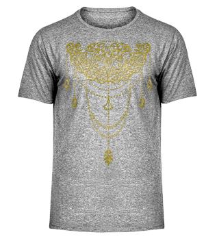 Dotwork Tattoo Mandala 1 - gold