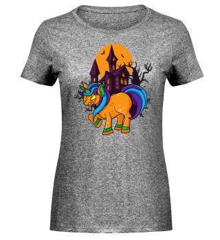Horror Unicorn Halloween Einhorn