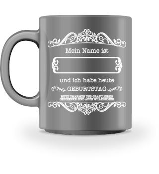 ♥ Mein Name - GEBURTSTAG - white