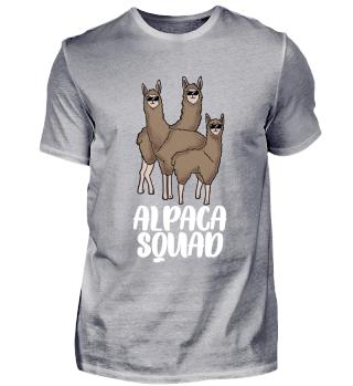 Alpaka Gruppe Lama Squad Geschenk