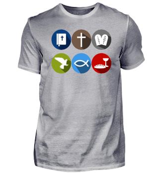 Sechs Symbole Shirt Geschenkidee