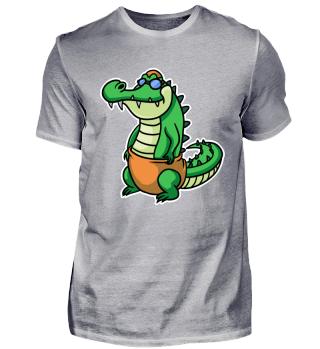 Crocodile Swimming Swimsuit Diver Reptil