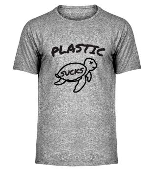 Plastic is bad sea turtle