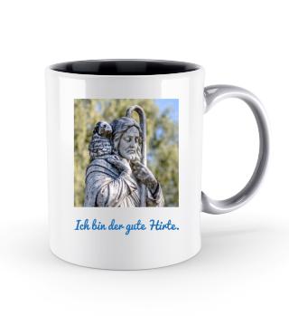 Tasse Beutel Ich bin der gute Hirte blau