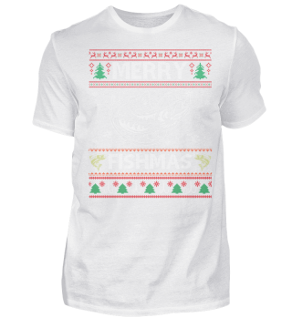 CHRISTMAS MERRY FISHMAS T-SHIRT