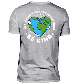 Sei menschlich Welt Geschenk