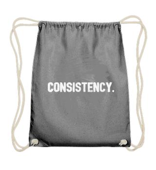 Consistency Gym Bag LYLF White on Black