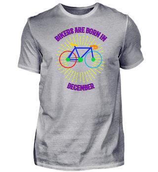 Dezember Fahrrad Shirt Geschenk
