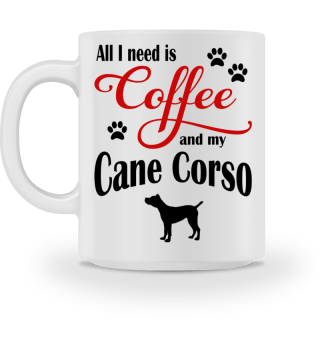 Coffee and my Cane Corso