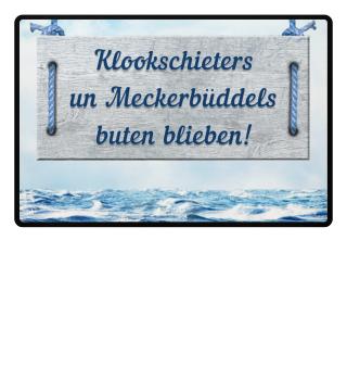 Klookschieters Plattdeutsch Fußmatte