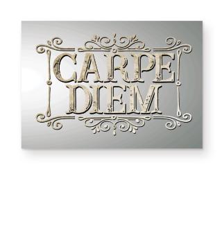 CARPE DIEM - vintage frame paper Poster
