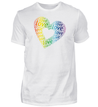 LGBT LOVE Heart Gay Lesbian Pride
