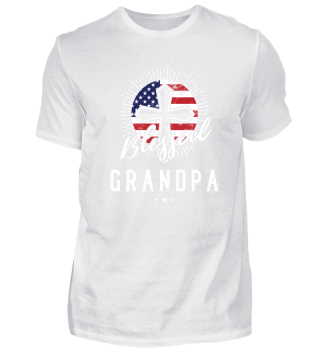 Blessed Grandpa Christian American Flag