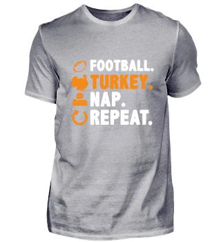 Funny Thanksgiving Football Turkey Tee