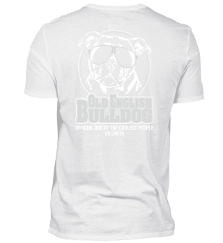 OLD ENGLISH BULLDOG coolest Backprint