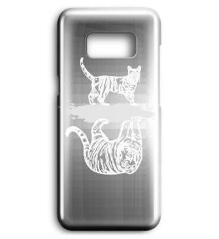 Tiger Katze Spiegelbild Handyschale