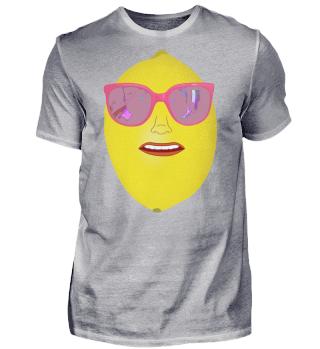 Coole Zitrone mit Sonnenbrille