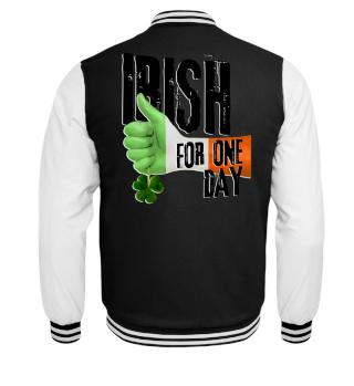 Irish For One Day - Hand Flag Shamrock