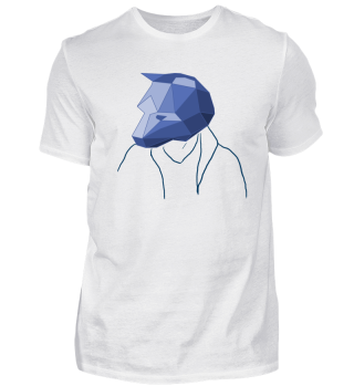 Low Poly Bear blue