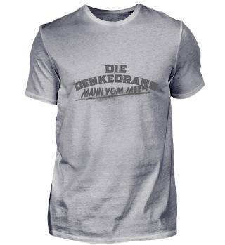 Die Denkedrans T-Shirt Mann vom Meer, grey print