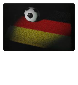 ★ Fussball Teppich - Deutschland Fahne