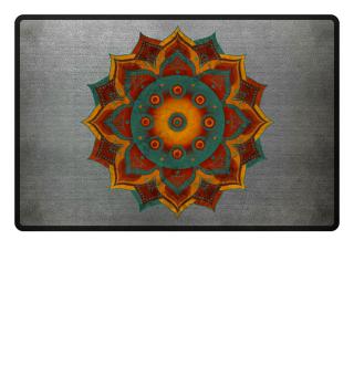 Handpan - Hang Drum Mandala - teal red