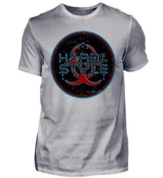 Hard Is My Style Biohazard Grunge Button