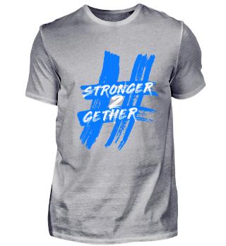 Hashtag T-Shirt Blau